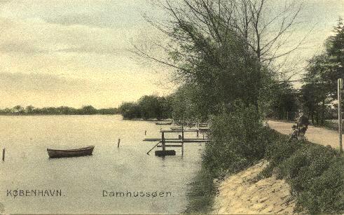 Damhussøen med bådebro