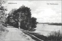 Damhus- dæmningen set mod Ålekistevej ca. 1905