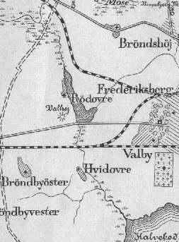 Kort over området ved Damhussøen
