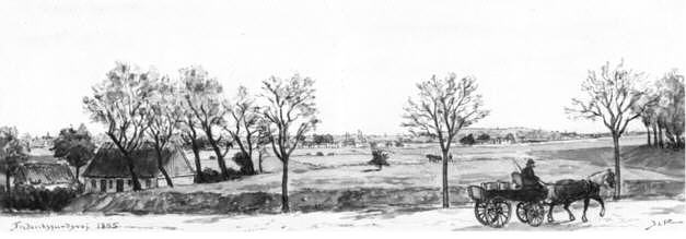 Udsigt fra Bellahøj mod København I.L. Ritter 1895