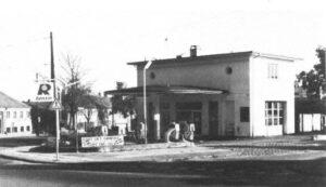 Tankstationen på hjørnet af Godthåbsvej og Bellisvej