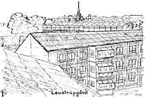 Tegning af Lønstrupgård