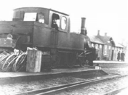 Damplokomotiv Ved Vanløse Station