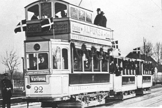 Fest: 'Sporvognen Kommer' 8. Dec. 1914