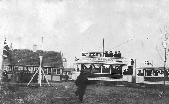 Sporvognen I Sløjfen 8. Dec. 1914