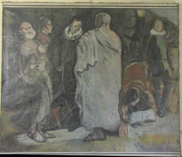 """Mogens Lorentzen: """"Skitse Til Dekoration På Roskilde Arbejderhøjskole"""", Privateje"""